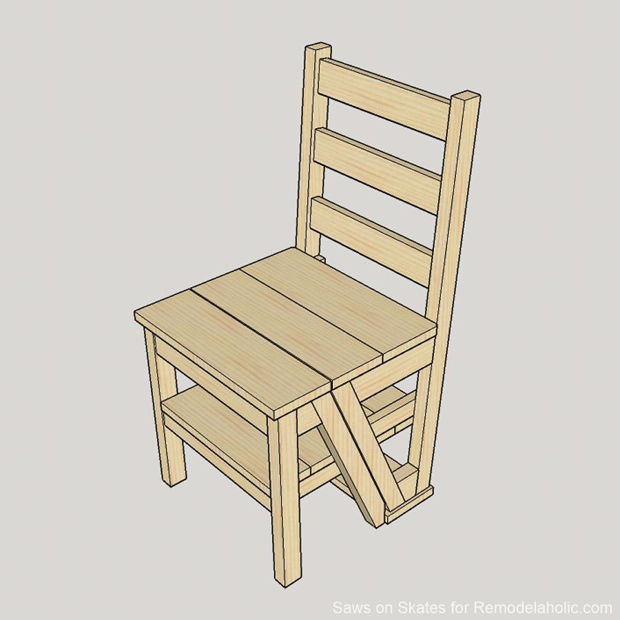 Diy Ladder Chair Sawsonskates 1