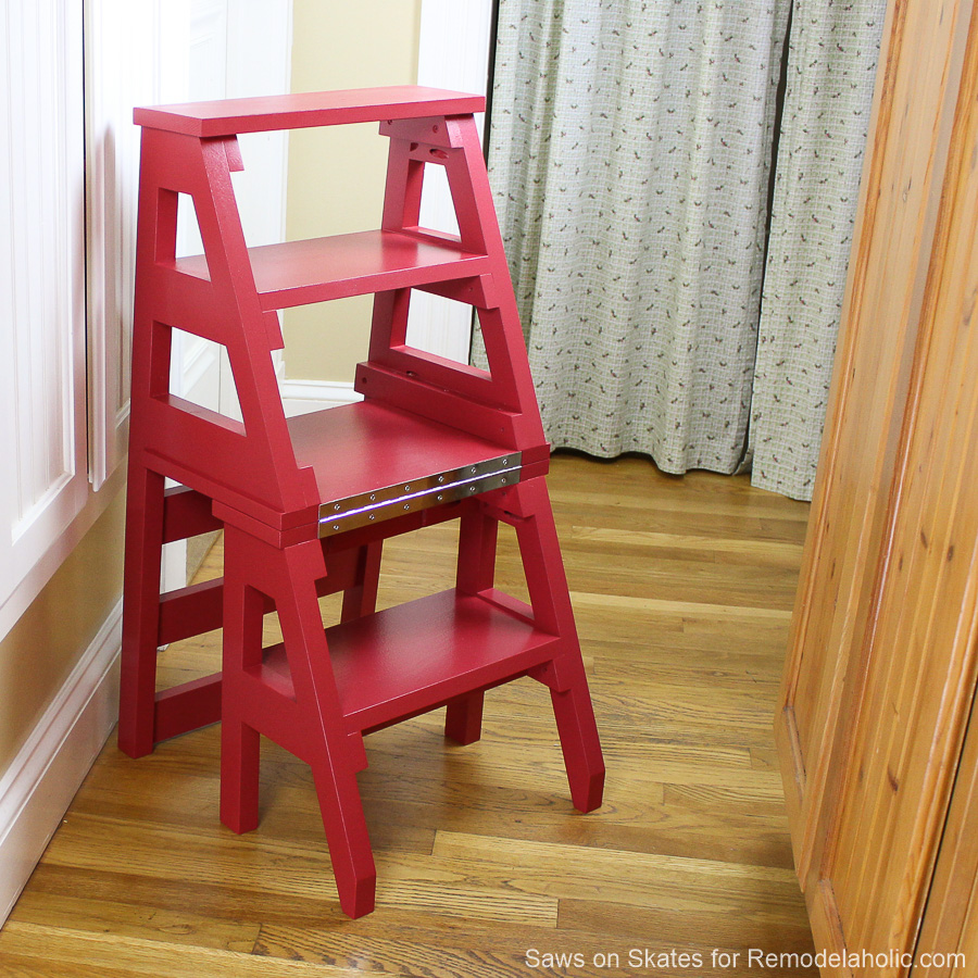 Remodelaholic diy ladder chair a modern twist on an american diy ladder chair sawsonskates finished 1 fandeluxe Choice Image