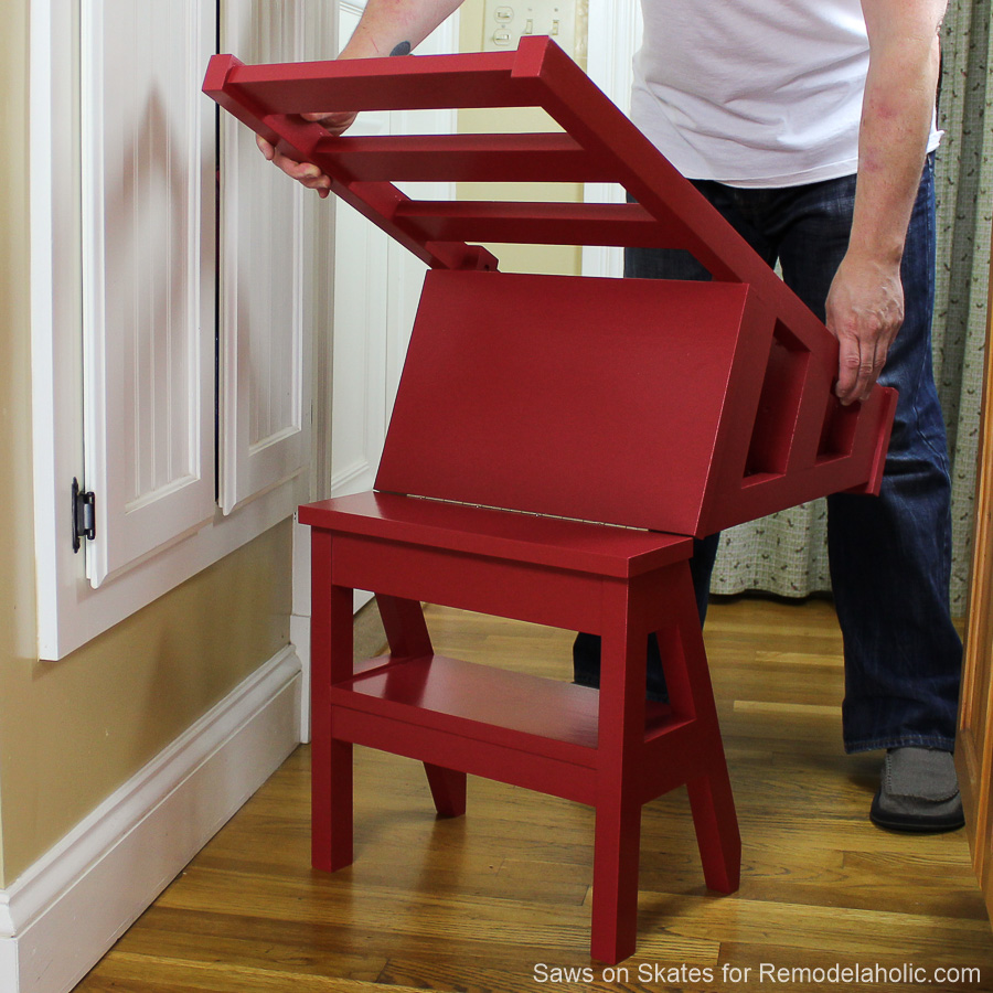 Remodelaholic diy ladder chair a modern twist on an american diy ladder chair sawsonskates finished 4 fandeluxe Choice Image