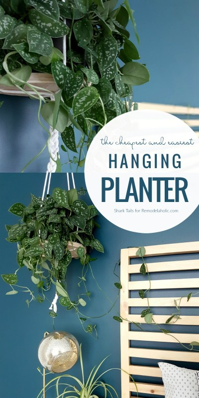 This cheap and easy hanging planter will take you less than an hour, so you can give your plans a lofty new home in no time at all! Full DIY tutorial and supply list.