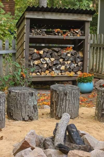 Wood Storage Shed Vertical