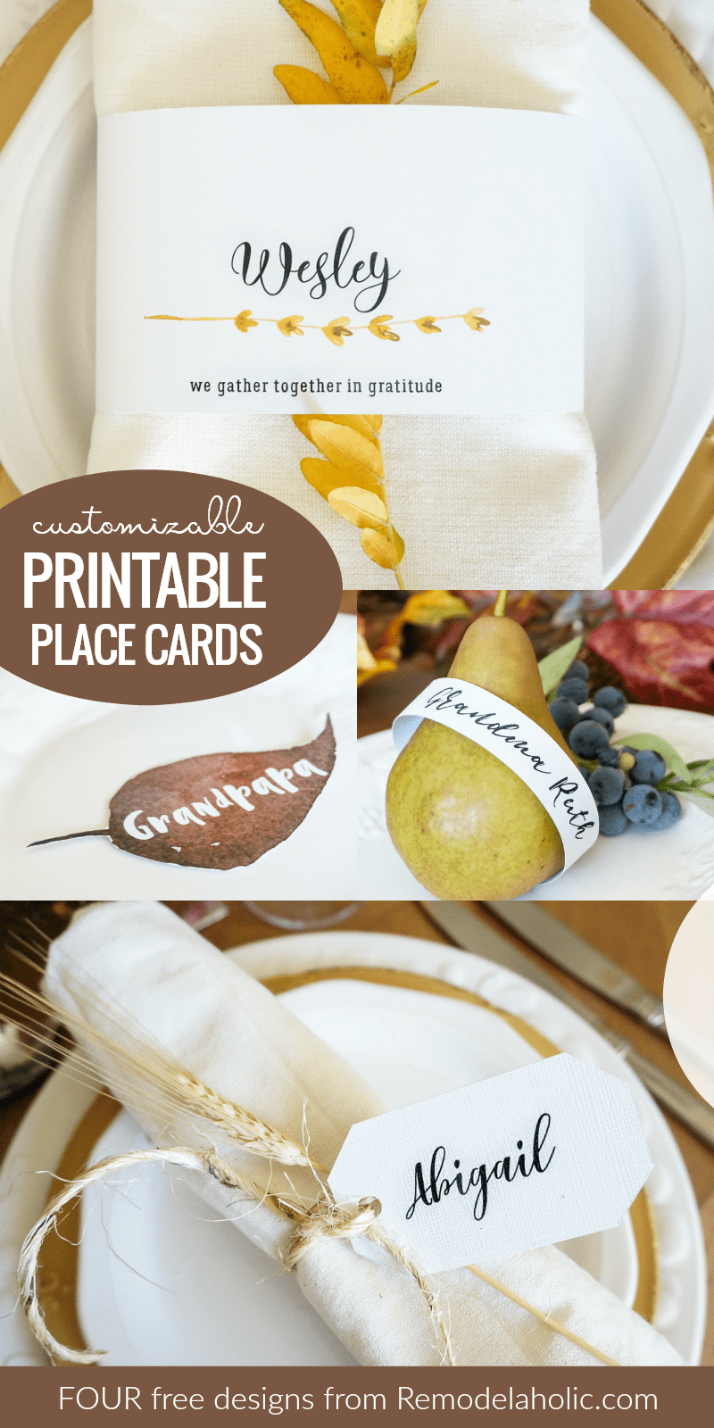 food place cards