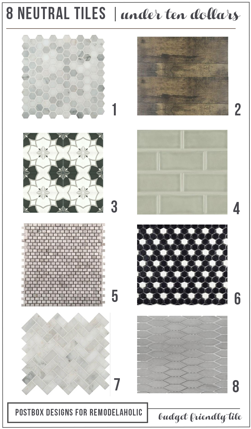 Affordable Neutral Tiles for Bathroom and Kitchens
