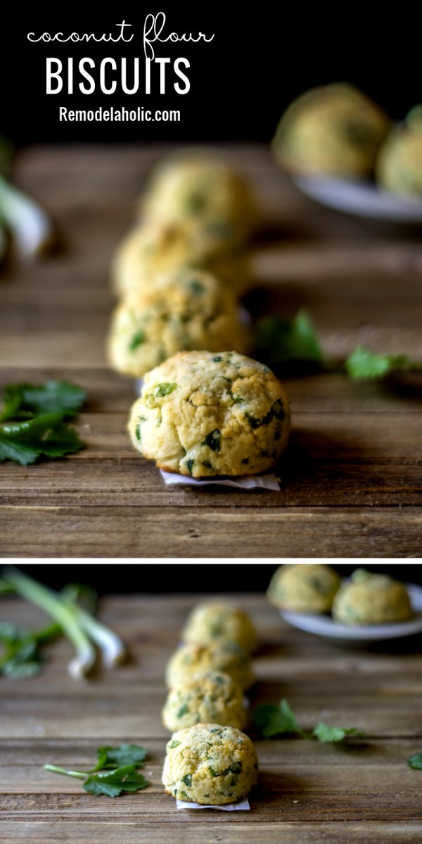 A perfect quick and easy dinner side. Try these Coconut Flour Biscuits Recipe via Remodelaholic.com