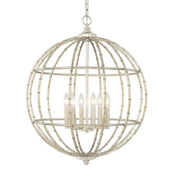 Colchester+6 Light+Globe+Pendant