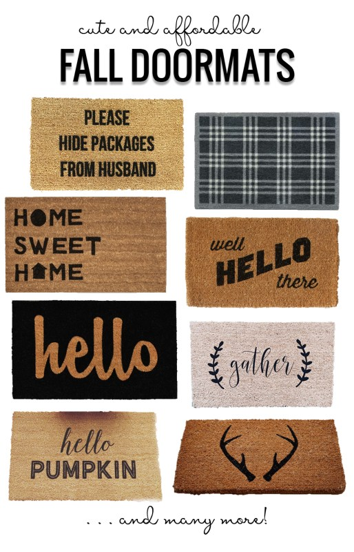 Cute And Affordable Fall Doormats