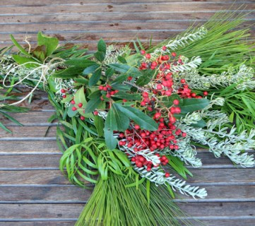 Make a Gorgeous Fresh Evergreen Christmas Swag in 10 Minutes