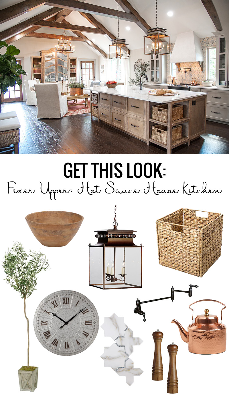 Remodelaholic | Get This Look: Fixer Upper Hot Sauce House Kitchen