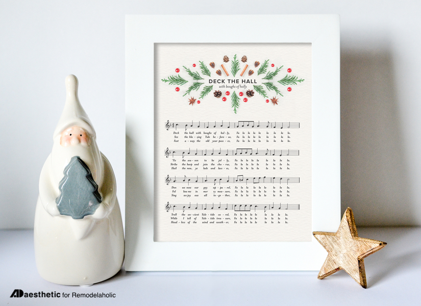 picture relating to Printable Christmas Sheet Music referred to as Remodelaholic No cost Xmas Printable: \
