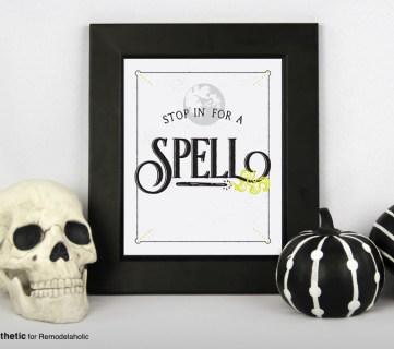 Free Halloween Printable: Stop in for a Spell