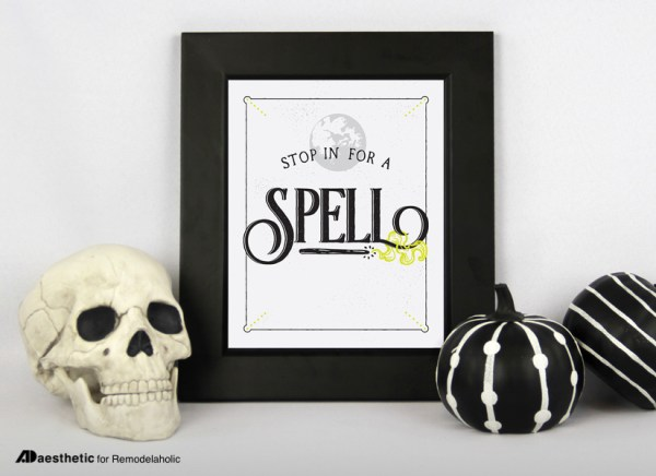 Free Printable Graphic • Stop In For A Spell 1 • AD Aesthetic For Remodelaholic • Horizontal