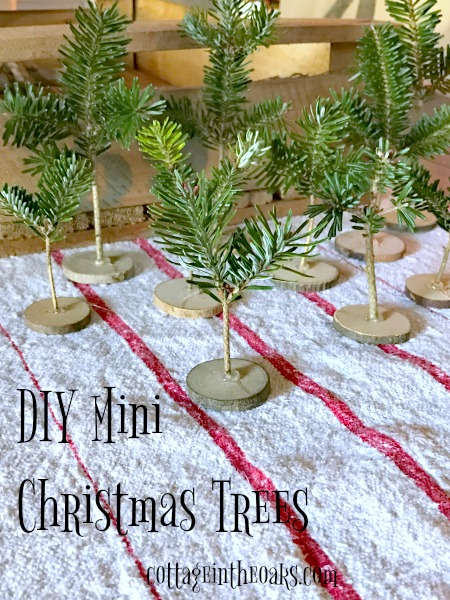 How To Make DIY Tiny Christmas Trees