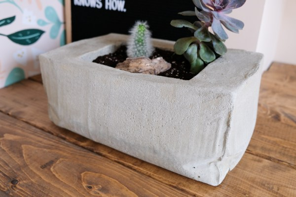 Remodelaholic Concrete Planter By The Leaerner Observer 12