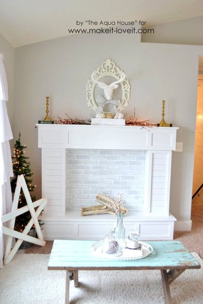 Faux Fireplace And Mantle 661