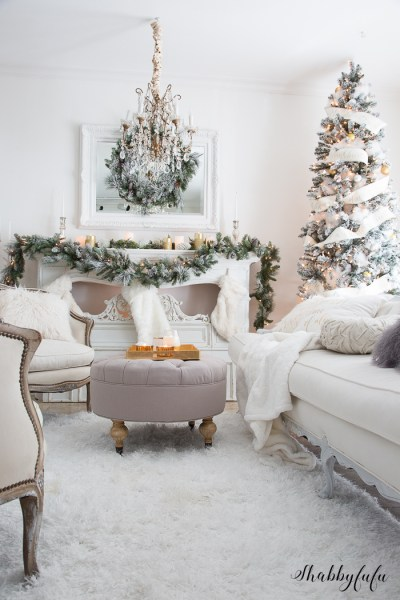 Holiday Season Christmas Decorating White Shabbyfufu 67
