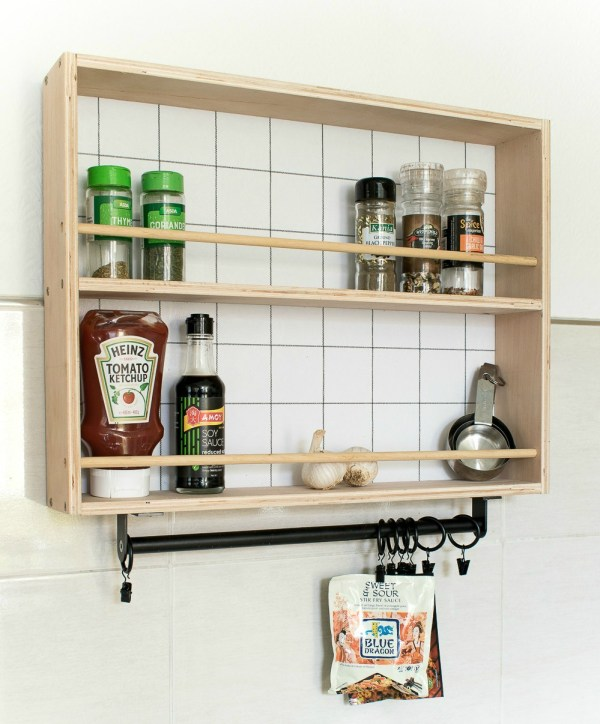 Modern Style Hanging Spice Rack 1 Grillo Designs