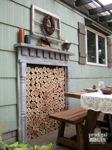 Outdoor Faux Fireplace E1443607252618