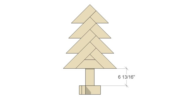 Remodelaholic Herringbone Tree Assemble Herringbone Tree 2