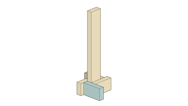 Remodelaholic Herringbone Tree Cut Stand Assembly 4