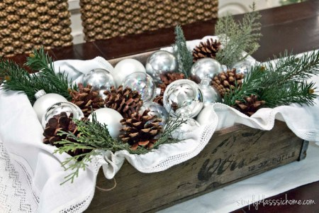 Rustic Glam Christmas Centerpiece 2