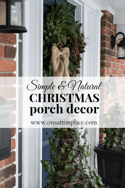Simple Natural Christmas Porch Decor