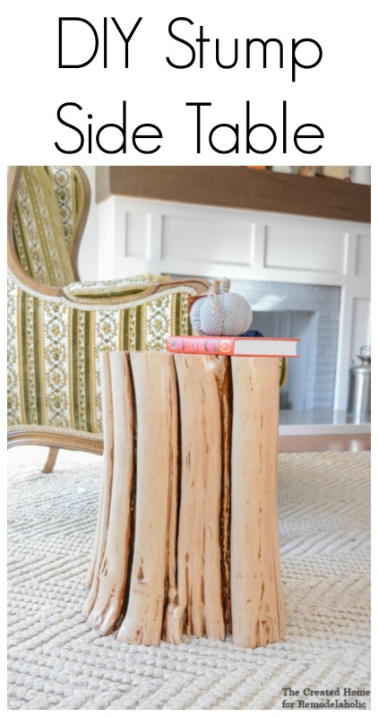How to make your own DIY stump side table and save hundreds of dollars