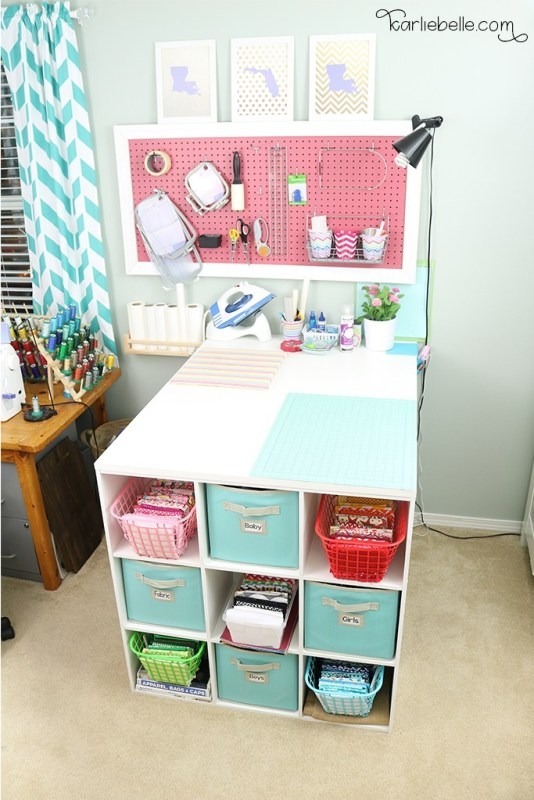 DIY Craft Table And Peg Board 1
