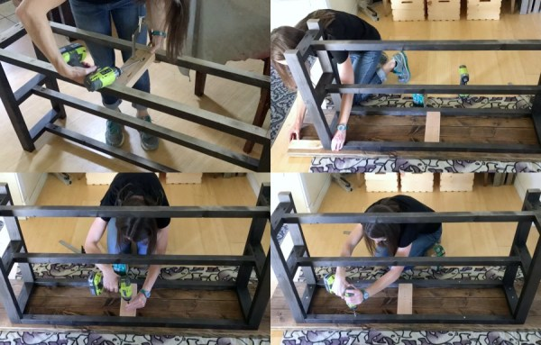 DIY Modern Rustic Console Table, Adding Top To Media Console, MyLove2Create