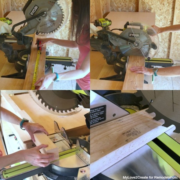 DIY Modern Rustic Console Table, Cutting Wood For Media Console, MyLove2Create