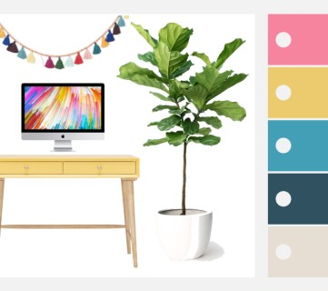 Create a chic and colorful home office with these decorating tips, inspiration, and furniture and decor selections. Featured Image