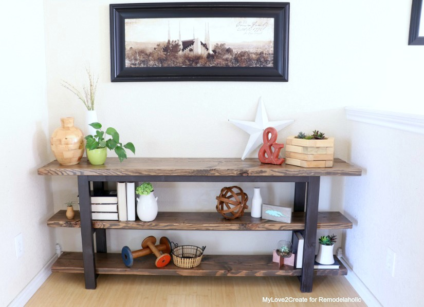 building table rustic console traditional