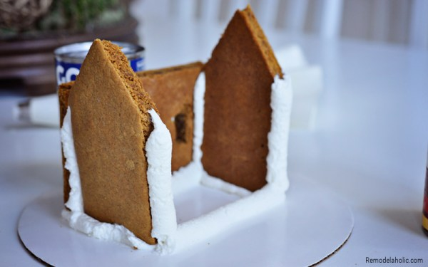 How To Assemble A Homemade Gingerbread House, From Remodelaholic