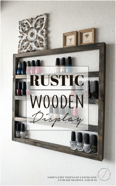 Rustic Wooden Display Banner