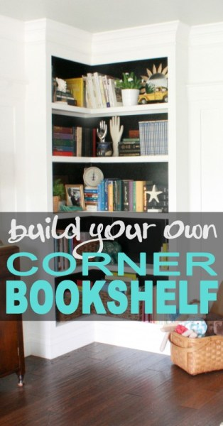 Built In Corner Bookshelf Pin 418x800
