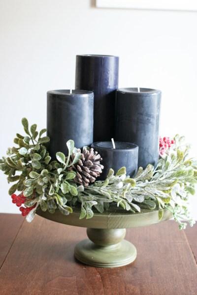 Craftivitydesigns Diy Modern Advent Wreath And Candle Centerpiece