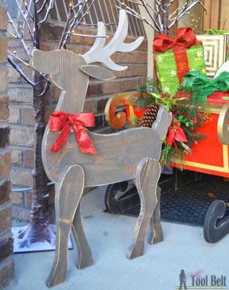 Hertoolbelt Diy Wood Reindeer And Sleigh