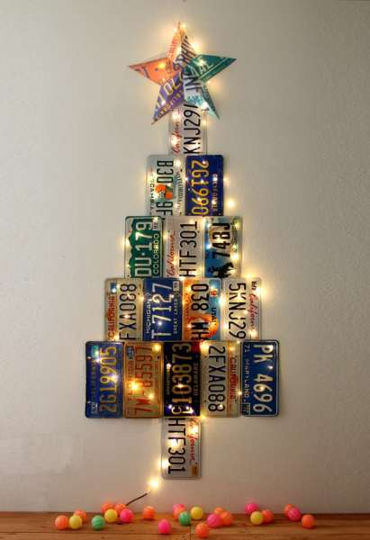 License Plate Christmas Tree Apieceofrainbowblog 3