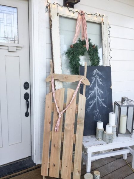 Twelveonmain Diy Wood Vintage Sled