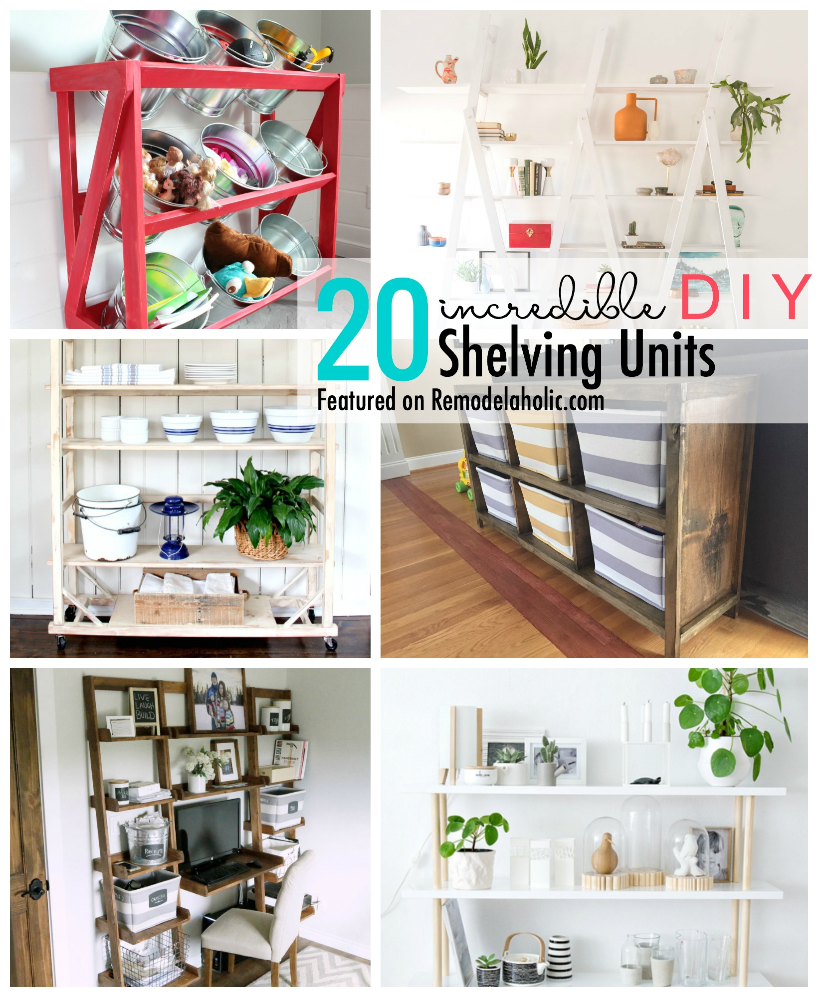 Remodelaholic 20 incredible diy shelving units add some storage space with a wall shelving unite we are sharing 20 incredible diy solutioingenieria Gallery