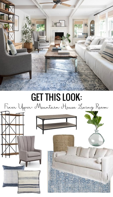 Get This Look: Fixer Upper Mountain House Living Room