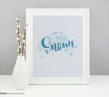 Free Printable Graphic Let It Snow AD Aesthetic For Remodelaholic • Horizontal