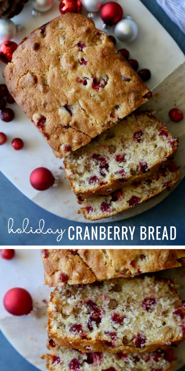 Looking for an easy Christmas breakfast try this Holiday Cranberry Bread Recipe at Remodelaholic.com