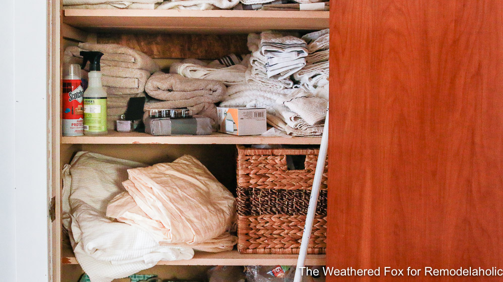 Linen Closet Makeover Before By The Weathered Fox 1