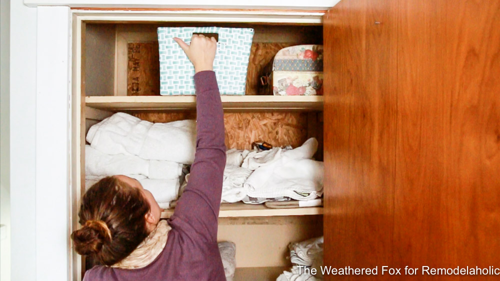 Linen Closet Makeover Before By The Weathered Fox 4