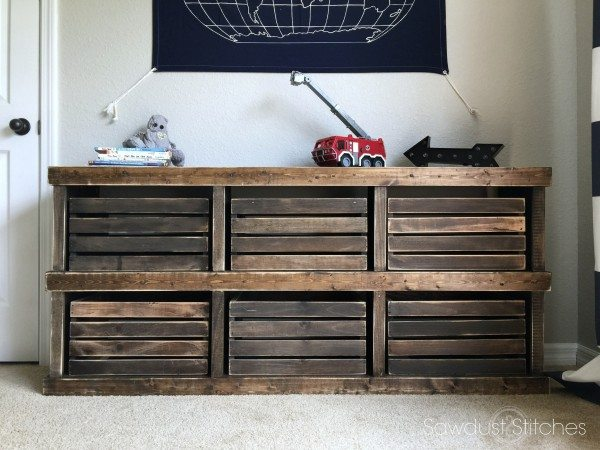 Pottery Barn Inspired Crate Dresser 2 By Sawdust2stitches.com