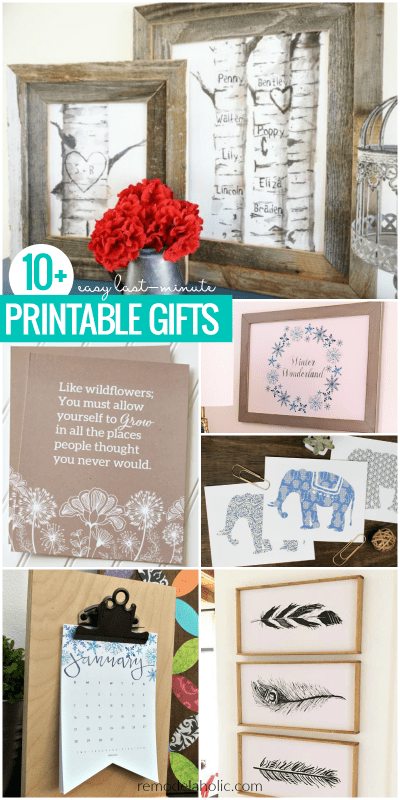 Easy Last Minute Printable Gifts For Christmas Birthdays, Weddings, Or Any Occasion | These free printable gift ideas are the perfect last-minute gift -- no one will ever know it only took a couple minutes! Pair with a DIY frame for an inexpensive handmade gift for birthdays, Christmas, housewarming, teacher appreciation, or weddings.