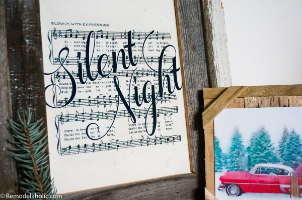 Free Printable Farmhouse Style Vintage Christmas Song Print Set @Remodelaholic (6)