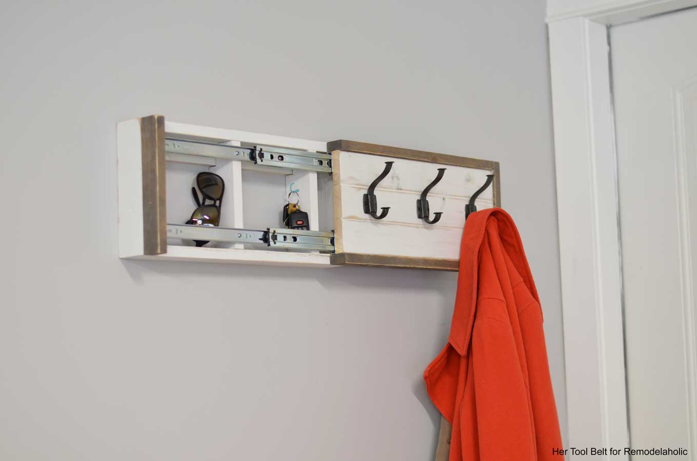 Remodelaholic Build A Wall Coat Rack With Hooks And