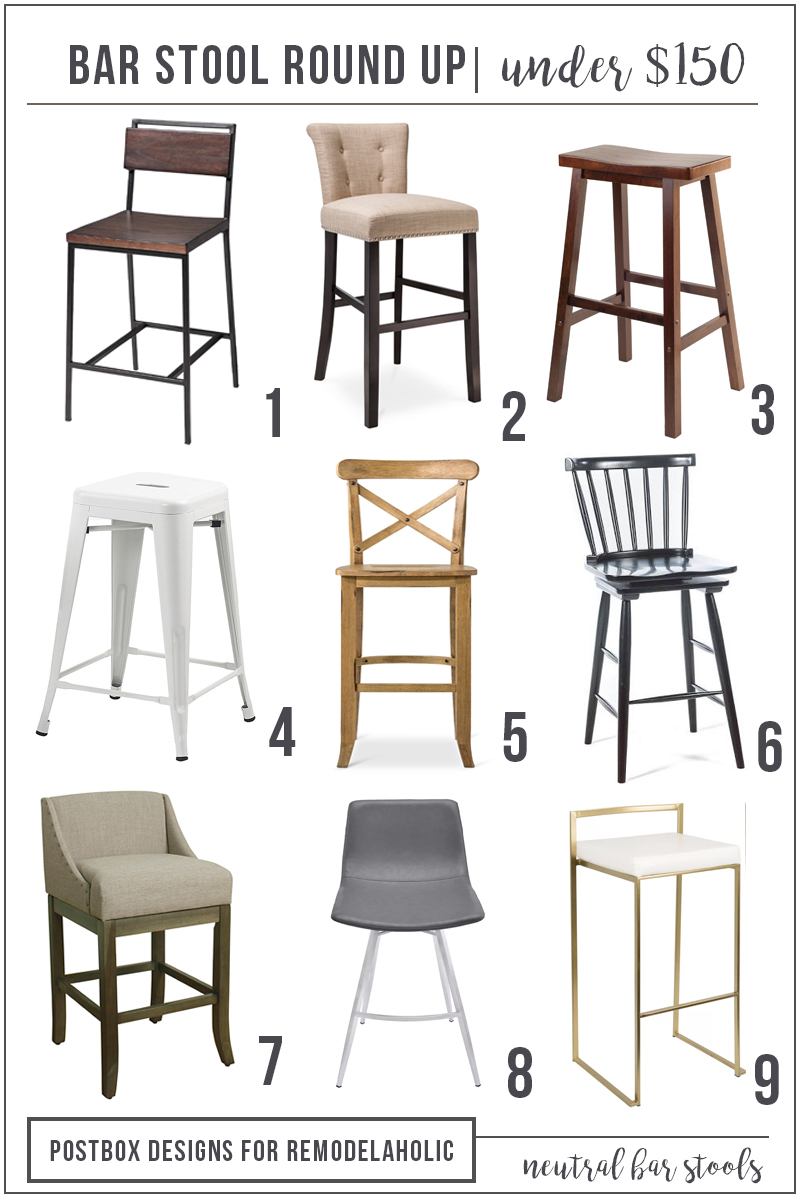 $150 and Under Kitchen Barstool Round-Up by Postbox Designs