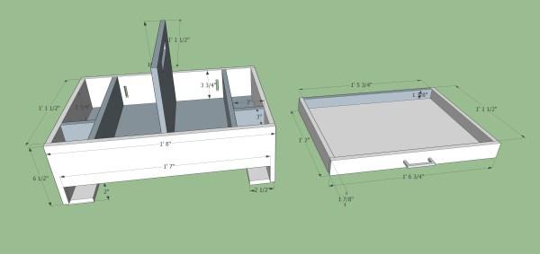 Car Organizer dimensions diagram